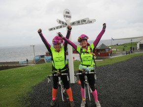 At the famous John O Groats Sign - We Did It !!!